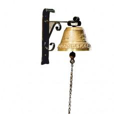 Zvonec domový 7 cm, na kovanom držiaku