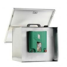 Uzamykateľná schránka na batériu, držiak zdroja a solárny panel